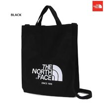 THE NORTH FACE Unisex Canvas Street Style 2WAY Plain Bold Totes