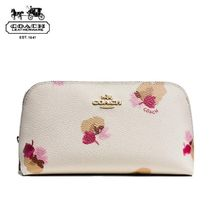 Coach Flower Patterns PVC Clothing Pouches & Cosmetic Bags