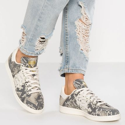 62dff59cbfe7f ... adidas Low-Top Casual Style Street Style Leather Python Low-Top  Sneakers ...
