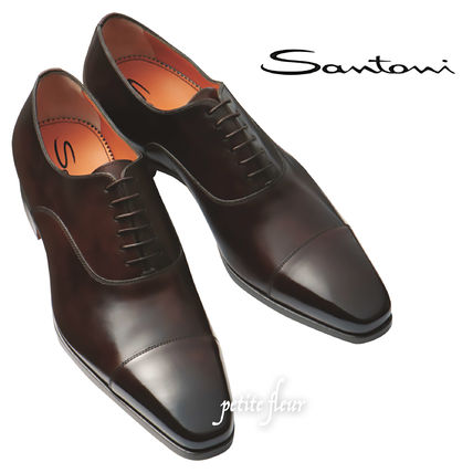 Straight Tip Leather Oxfords