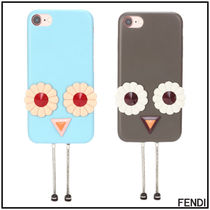FENDI Street Style Leather Smart Phone Cases