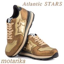 Atlantic STARS Star Casual Style Unisex Leather Low-Top Sneakers