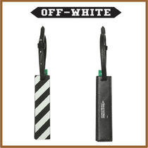 Off-White Stripes Street Style Leather Stationary