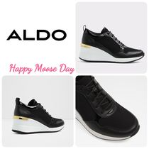 ALDO Wedge Round Toe Casual Style Faux Fur Street Style