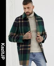 ASOS Stand Collar Coats Other Check Patterns Coats