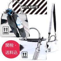 Off-White Casual Style Unisex Nylon Street Style 2WAY Shoulder Bags