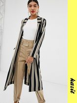 ASOS Stripes Casual Style Long Jackets