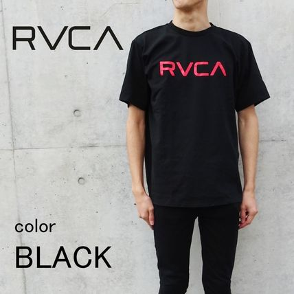 RVCA More T-Shirts Unisex Street Style Cotton Short Sleeves T-Shirts