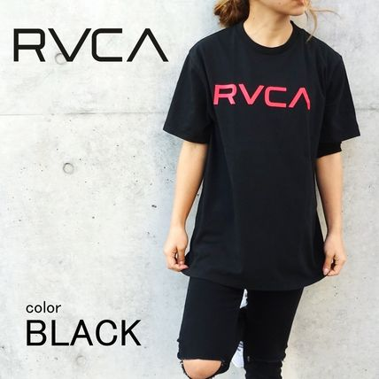 RVCA More T-Shirts Unisex Street Style Cotton Short Sleeves T-Shirts 2