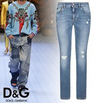 Dolce & Gabbana Unisex Plain Cotton Jeans & Denim