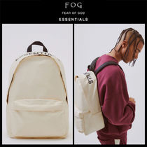 FEAR OF GOD Unisex Street Style Collaboration Backpacks