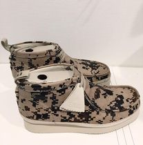 Clarks Camouflage Leather Sneakers
