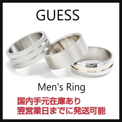 Guess Unisex Street Style Logo Rings