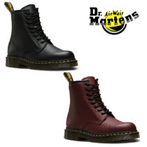 Dr Martens 1460 Plain Toe Unisex Plain Leather Engineer Boots