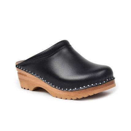 Unisex Plain Leather Loafers & Slip-ons