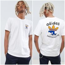 adidas Skateboarding Crew Neck Street Style Plain Cotton Short Sleeves