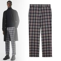 Burberry Tapered Pants Glen Patterns Wool Tapered Pants
