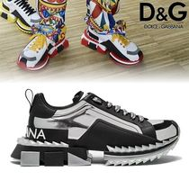 Dolce & Gabbana Unisex Bi-color Leather Sneakers