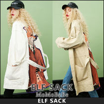 ELF SACK Casual Style Other Animal Patterns Medium Trench Coats