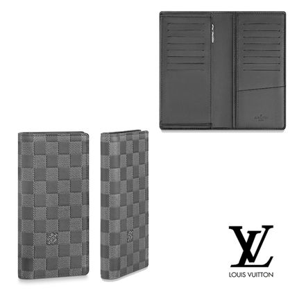 c75f8ac9208f Louis Vuitton DAMIER INFINI Zigzag Leather Long Wallets (N60193) by ...