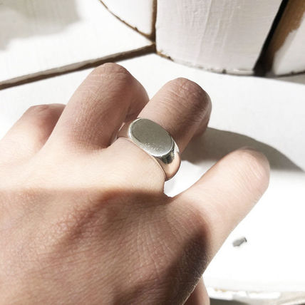 Casual Style Street Style Silver Pinkie Ring Rings