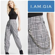 I.AM.GIA Glen Patterns Zigzag Casual Style Chain Long Pants