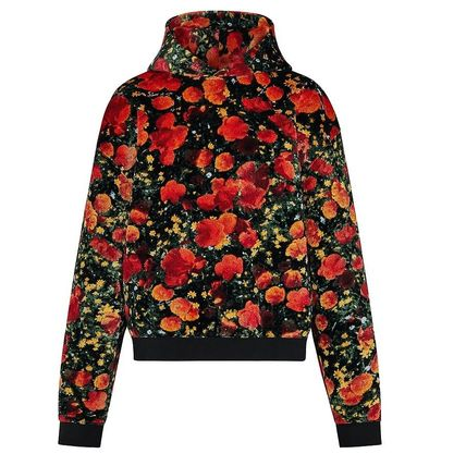 Louis Vuitton Hoodies Flower Patterns Blended Fabrics Street Style Bi-color 2