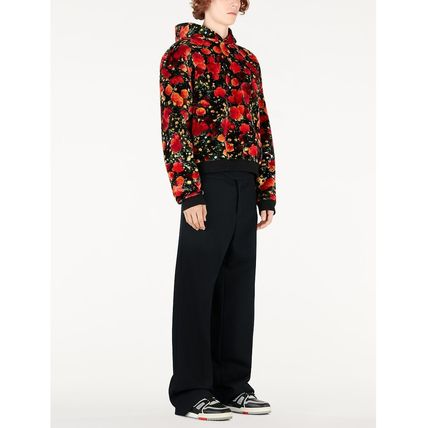 Louis Vuitton Hoodies Flower Patterns Blended Fabrics Street Style Bi-color 5