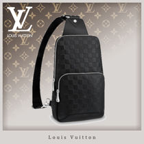 Louis Vuitton DAMIER INFINI Blended Fabrics Street Style Leather
