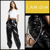 I.AM.GIA Casual Style Faux Fur Street Style Chain Plain Long