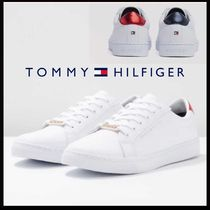 Tommy Hilfiger Plain Toe Lace-up Casual Style Plain Leather