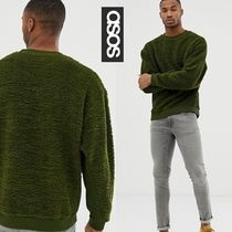 ASOS Crew Neck Pullovers Street Style Long Sleeves Oversized