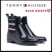 Tommy Hilfiger Street Style Plain PVC Clothing Wedge Boots