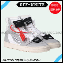 Off-White Unisex Blended Fabrics Leather Sneakers