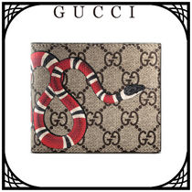 GUCCI Other Animal Patterns Leather Folding Wallets