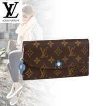 Louis Vuitton PORTEFEUILLE EMILIE Monogram Canvas Studded Long Wallets