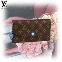 Louis Vuitton PORTEFEUILLE EMILIE Monogram Canvas Studded Bi-color Long Wallets