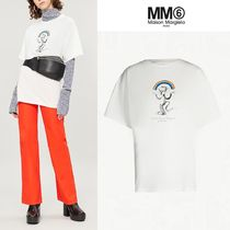 MM6 Maison Margiela Crew Neck Unisex Street Style Cotton Special Edition