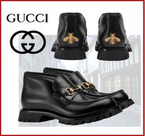 GUCCI Flower Patterns Loafers Other Animal Patterns Leather