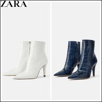 ZARA Other Animal Patterns Leather Elegant Style High Heel Boots