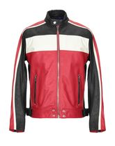 DIESEL Stripes Street Style Bi-color Leather Oversized
