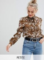 ASOS Flower Patterns Casual Style Long Sleeves Shirts & Blouses