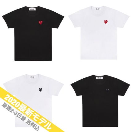 COMME des GARCONS More T-Shirts Crew Neck Unisex Street Style Short Sleeves Logo Designers