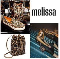Melissa Leopard Patterns Casual Style Purses PVC Clothing Backpacks