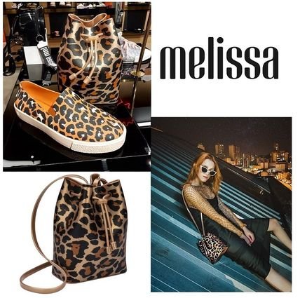 Leopard Patterns Casual Style Purses PVC Clothing Backpacks