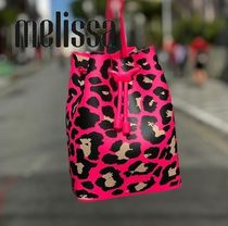 Melissa Leopard Patterns Casual Style Purses PVC Clothing