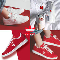 adidas STAN SMITH Round Toe Rubber Sole Casual Style Unisex Street Style Plain