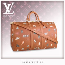 Louis Vuitton Unisex Leather Boston & Duffles