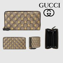 GUCCI GG Supreme Canvas Long Wallets