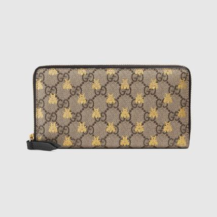 newest collection d8514 1d41c GUCCI GG Supreme 2019 SS Canvas Long Wallets (410102 9F26G 8319)